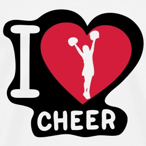i love cheerleading pompom girl heart13 Tee shirts - T-shirt Premium Homme