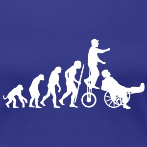Evolutionstheorie Hals und Beinbruch (Zirkus-Clown) T-Shirts - Frauen Premium T-Shirt