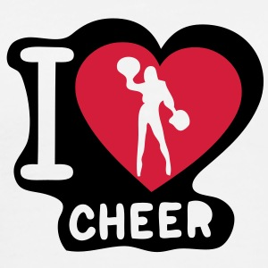 i love cheerleading pompom girl heart12 Tee shirts - T-shirt Premium Homme
