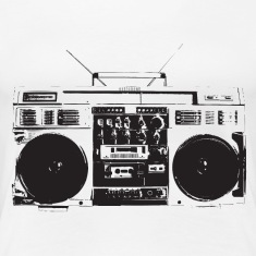 Ghetto blaster vintage for oldschool hiphop T-Shirt