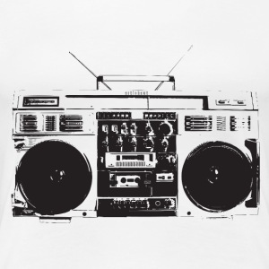 Ghetto blaster vintage for oldschool hiphop - T-shirt Premium Femme