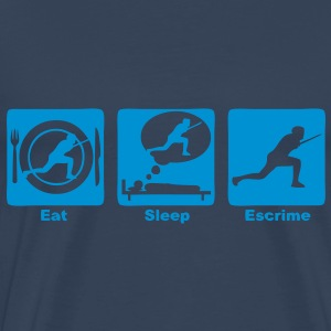 escrime 30 eat sleep play  Tee shirts - T-shirt Premium Homme
