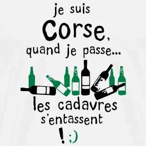corse cadavre entasse bouteille alcool Tee shirts - T-shirt Premium Homme