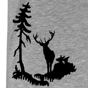 Deer family in Forest  T-Shirts - Men's Premium T-Shirt