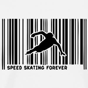 code barre speed skating skateur3 Tee shirts - T-shirt Premium Homme