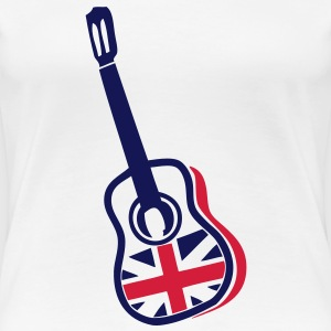 guitare acoustique anglaise english1 flag Tee shirts - T-shirt Premium Femme