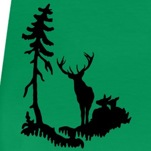 Deer family in Forest  T-Shirts - Women's Premium T-Shirt