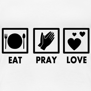 Eat Pray Love Vector T-Shirts - Frauen Premium T-Shirt