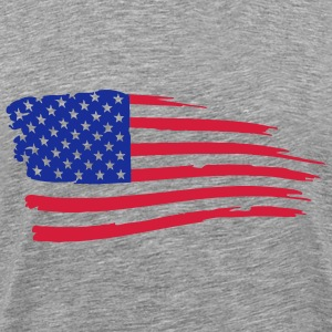 usa_flag_on_white T-Shirts - Men's Premium T-Shirt