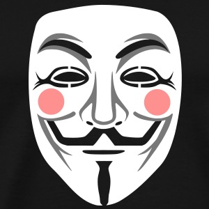 Anonymous / masque de Guy Fawkes 3clr Tee shirts - T-shirt Premium Homme
