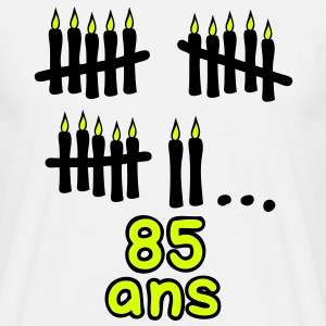 85 ans bougies printemps Tee shirts - T-shirt Homme