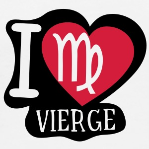 i love vierge signe astrologique Tee shirts - T-shirt Premium Homme