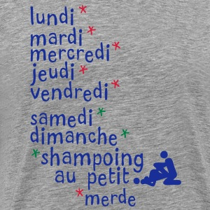 jours semaine amour shampoing sexe Tee shirts - T-shirt Premium Homme