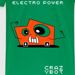 Crazybot - Electro Power - Männer Premium T-Shirt
