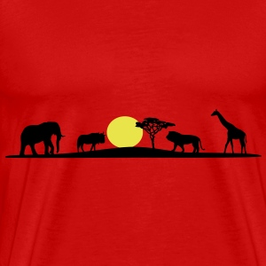 African Savanna, Afrika Wildlife - Men's Premium T-Shirt
