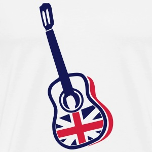 guitare acoustique anglaise english1 flag Tee shirts - T-shirt Premium Homme