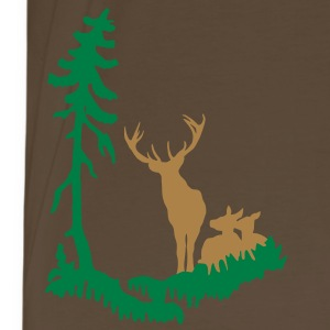Deer family in Forest 2col T-Shirts - Men's Premium T-Shirt