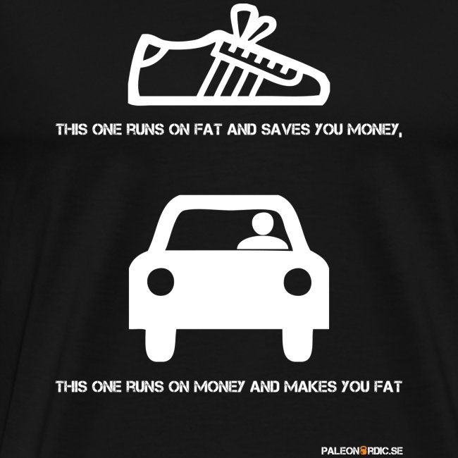 Runs on Fat - shoe - herr t-shirt