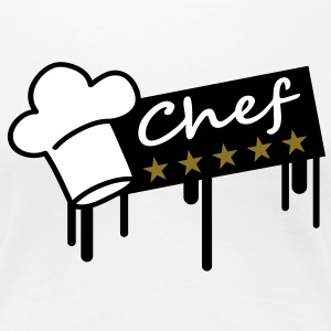 5_stars_chef_grafitti_rectangle T-Shirts - Frauen Premium T-Shirt