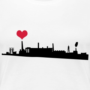 Love your City Industry T-shirts - Dame premium T-shirt