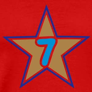 7 seven numero number star etoile Tee shirts - T-shirt Premium Homme