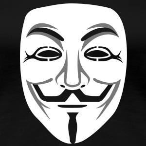 Anonymous / masque de Guy Fawkes 2clr Tee shirts - T-shirt Premium Femme