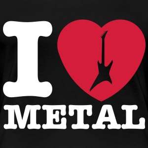 I LOVE METAL!!! (Heart & Guitar) - T-shirt Premium Femme