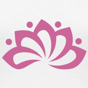 Lotus Flower, c, vector, symbol of perfection and enlightenment, sacred symbol T-Shirts - Women's Premium T-Shirt