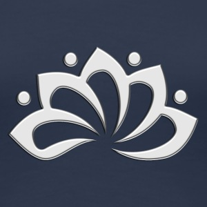 Lotus Flower, digital, silver, symbol of perfection and enlightenment, sacred symbol T-shirts - Premium-T-shirt dam