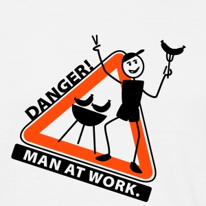 man_at_grill - Camiseta hombre