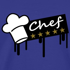 5_stars_chef_grafitti_rectangle T-Shirts - Männer Premium T-Shirt