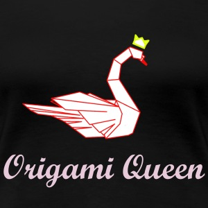 Origami swan with  crown T-Shirts - Women's Premium T-Shirt