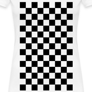 White pattern chequered black white T-Shirts - Women's Premium T-Shirt