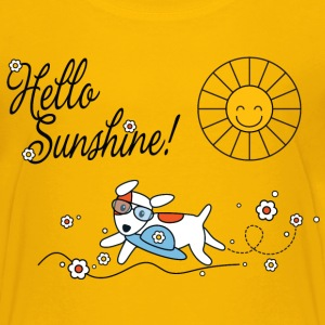 Hello sunshine, hello sping and summer kids Barn-T-shirts - Premium-T-shirt tonåring