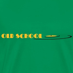 old school, oldschool, vinyl T-skjorter - Premium T-skjorte for menn