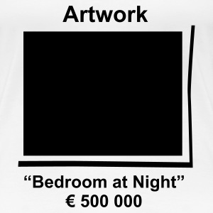 Artwork Bedroom at Night - Maglietta Premium da donna