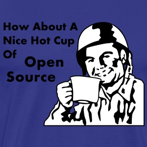 How About A Nice Hot Cup Of OPEN SOURCE T-Shirts - Männer Premium T-Shirt