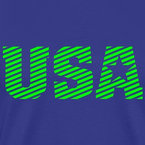 USA Stripe Type - Männer Premium T-Shirt