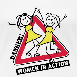 women in action T-Shirt - Premium T-skjorte for kvinner