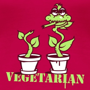 A carnivorous plant  as a vegetarian or cannibal T-Shirts - Women's Premium T-Shirt