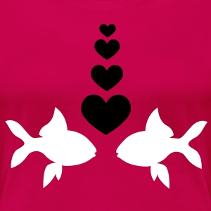 Fish in Love - T-Shirt - Frauen Premium T-Shirt