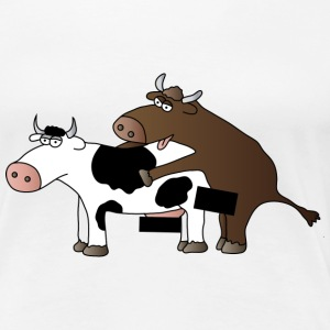 cattle censored T-Shirts - Women's Premium T-Shirt