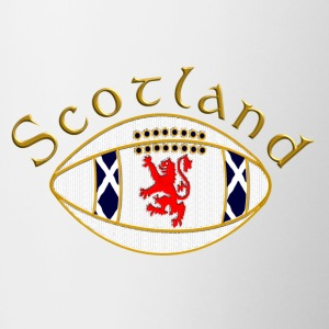 Scotland_rugby_ball_gold Bottles & Mugs - Mug
