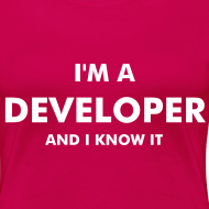 Diseño ~ I'm a developer and I know it - chica manga corta