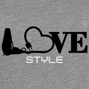 hair stylist's love (1c) T-Shirts - Frauen Premium T-Shirt