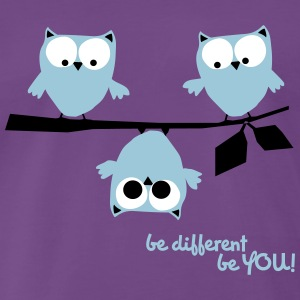 Funny Owls, be different be you - Men's Premium T-Shirt