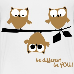 Eulen, lustig, be different, Vogel T-Shirts - Kinder Premium T-Shirt