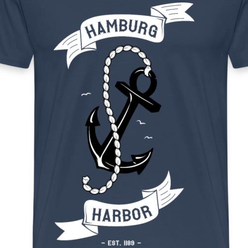 Hamburger Hafen est. 1189 mit Anker - Senkrecht