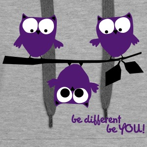 Funny Owls, be different be you - Women's Premium Hoodie