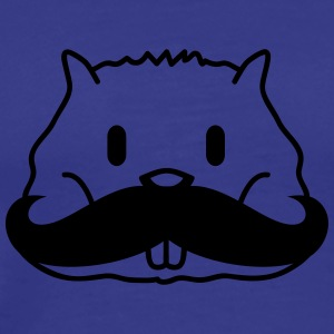 Cute Mustache Hamster Face T-shirts - Herre premium T-shirt